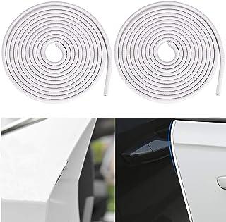 protector de borde en forma de U Protectores de borde de puerta de coche sello tira de goma cubierta protectora insonorizados 5M silencioso moldura de puerta de coche blanco