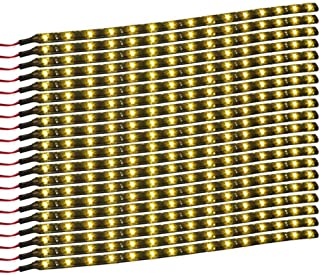 XT AUTO Amber Yellow 12v 15 Led 30cm Car Flexible Waterproof Underbody Light Strip Pack of 20