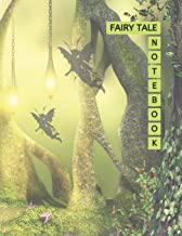"""Fairy Tale Notebook: Fairyland Cover Green Color 8.5x11"""" 100 Pages Blank Lined Composition Fairies Tale Book - Large Size ..."""