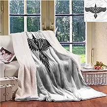 Sunnyhome Raven Throw Blanket Norse Mythology Theme Bird Personalized Baby Blanket Throw Size