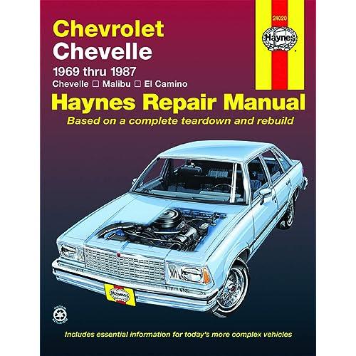 Haynes Workshop Manual Chevy Chevelle 1969-1987 Malibu El Camino Service Repair