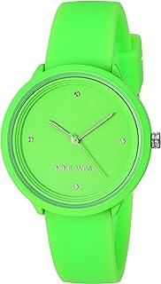 Nine West Women`s Neon Silicone Strap Watch