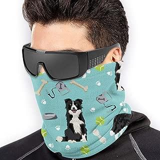 Bandana for Rave Face Mask Dust Wind UV Sun Protection Neck Gaiter Tube Mask Headwear Mask for Men Women - Border Collie Toys Sports Balls