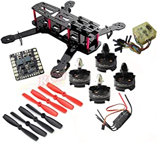 Hobbypower DIY 250 Mini Quadcopter H250 Racing Drone Frame Kit + HP T2204 2300KV Motor + Simonk 20A ESC + CC3D Flight Controller + 5045 Propeller