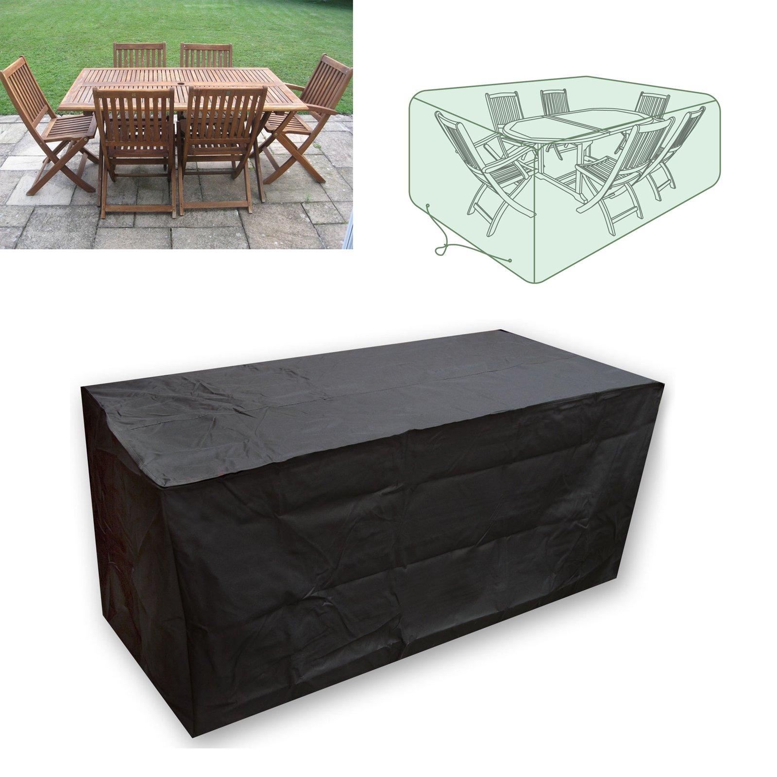 Conjunto de fundas para muebles de jardín, de Vinteky, con funda cubremesa y para bancos.: Amazon.es: Jardín