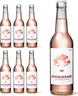 SCHORLEFRANZ Roseschorle 6er-Set | Idealer Durstlöscher Mit Veganem Roséwein Aus Rheinhessen | Perfektes Wein Geschenk 6,3% Vol. 6 x 0,33l