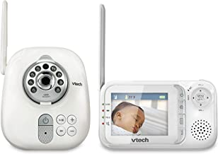 VTech VM321 Video Baby Monitor with Automatic Infrared Night Vision, Adjustable Camera, Zoom, 5 Soothing Lullabies & 1,000...