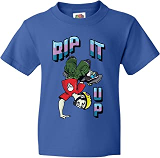 Rip It Up Cool Skateboard Clothes Youth Tee Retro Skate Shirt Thrasher