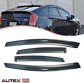 AUTEX 4Pcs Tape On Window Compatible with Toyota Prius 2010 2011 2012 2013 2014 Compatible with Toyota Prius 2014 2015 Plug-in Side Wind Deflector Sun Guards