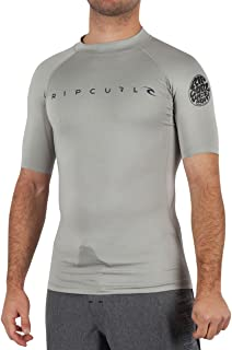 Rip Curl Men's Trestles Long Sleeve Loose Fit 50+ UPF Sun Protection Rash Guard Swim Shirt
