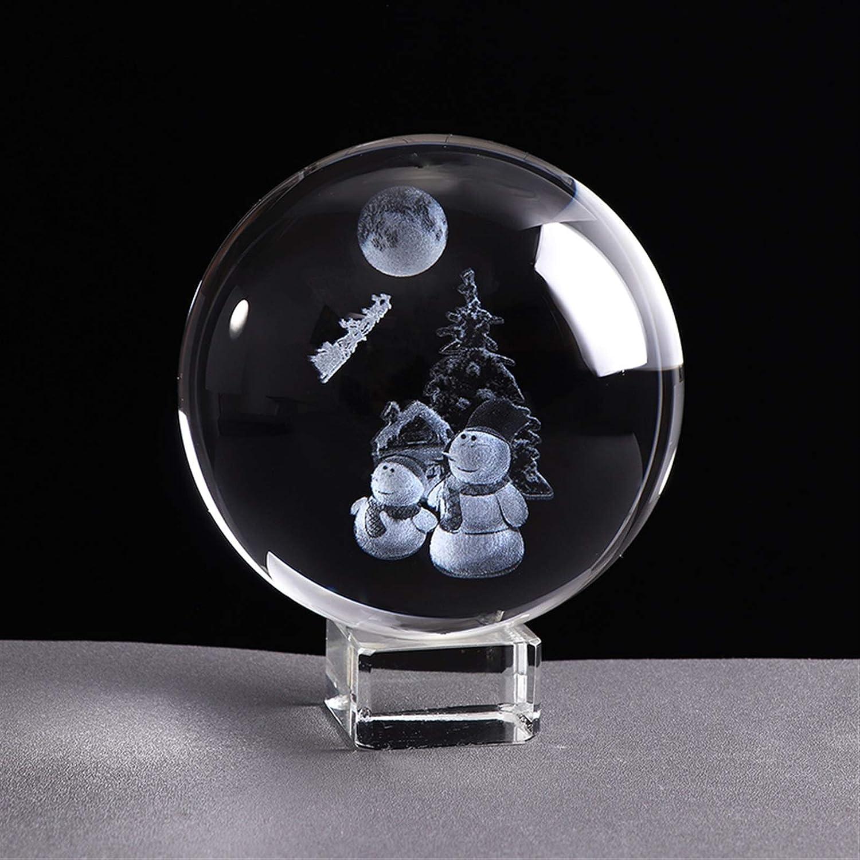 YCSX Ornament Balls specialty shop 80mm Snowman Crystal Miniature Laser Ball 3D Milwaukee Mall
