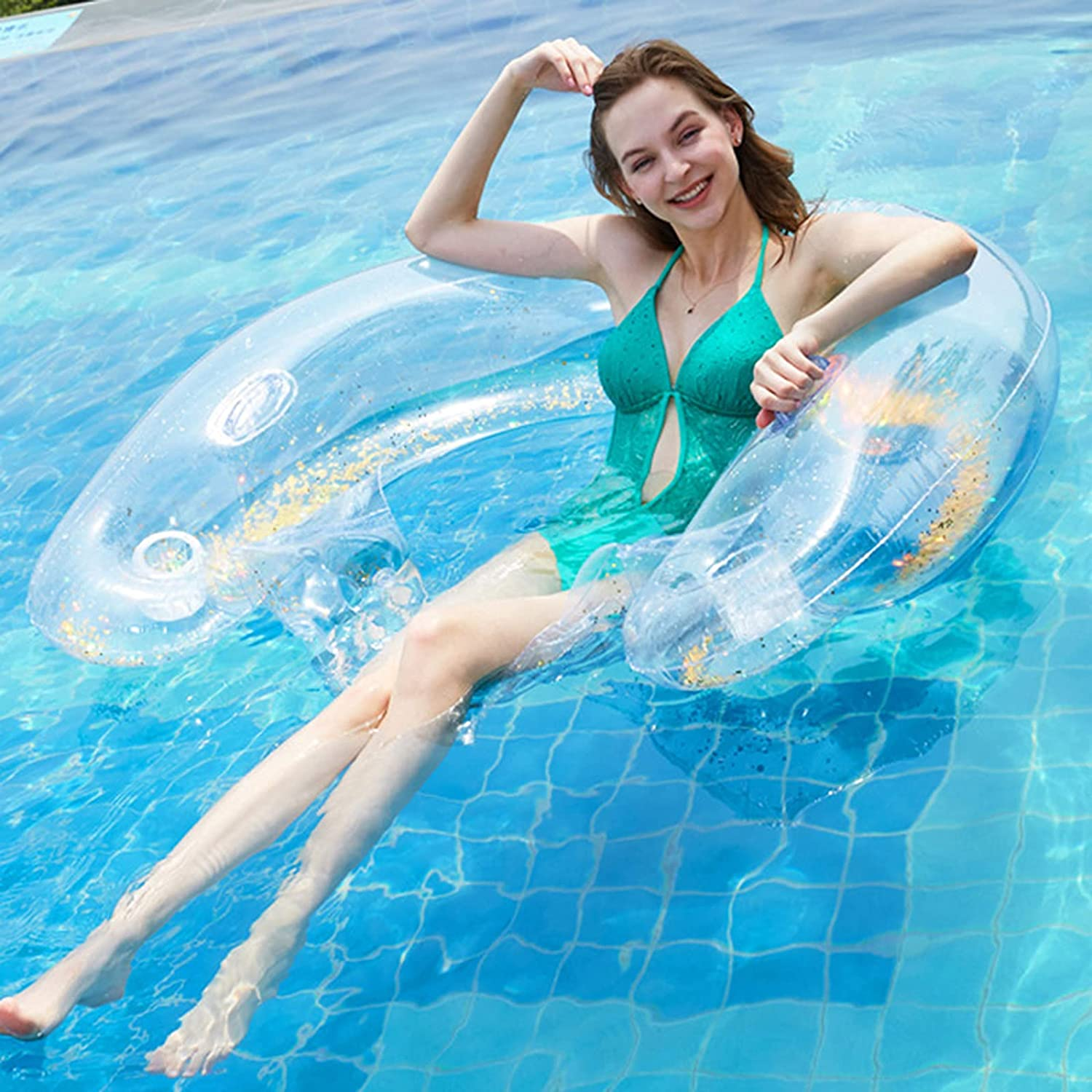 All items free shipping SSJDTZ Inflatable Pool Float Swimming Chair Luxury goods Fu Lounge