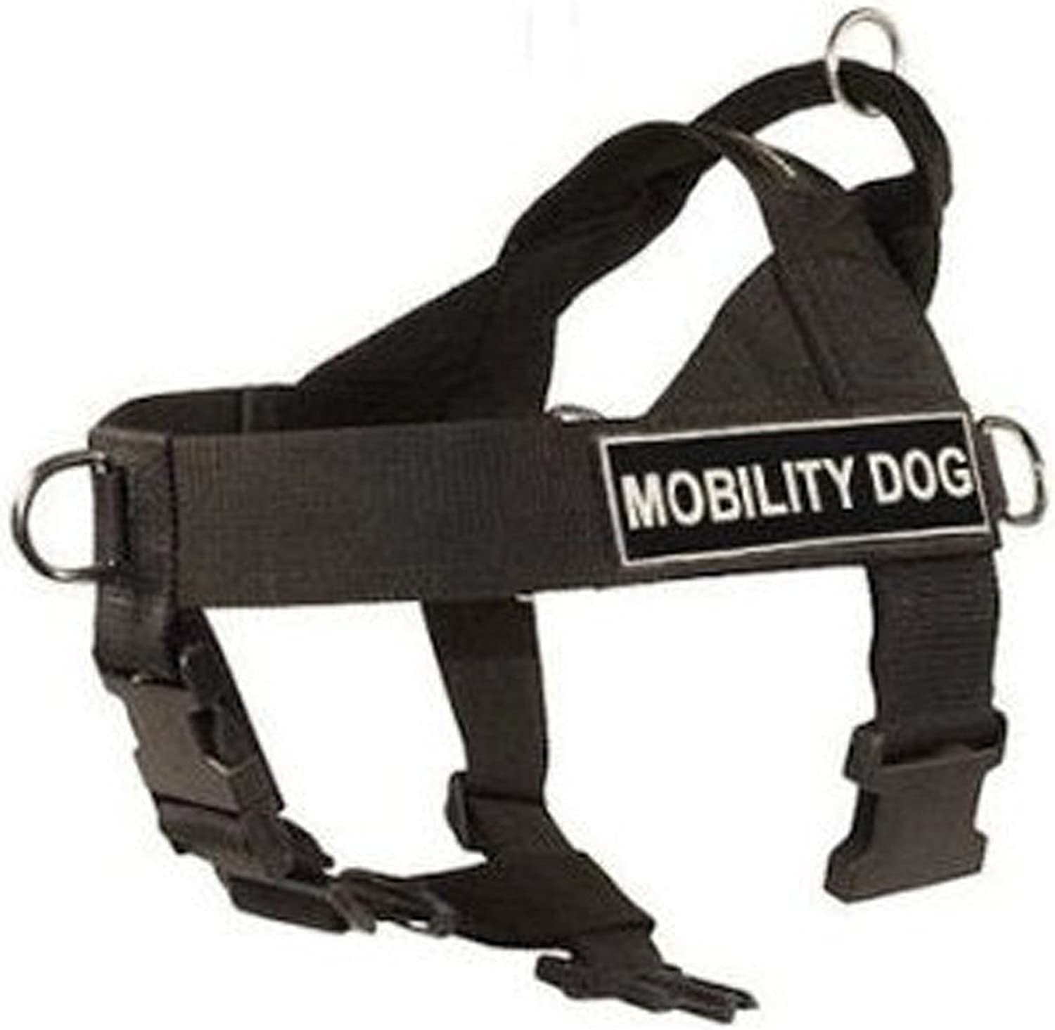 DT Universal No Pull Dog Harness, Mobility Dog, Black, XLarge  Fits Girth Size  91cm to 119cm