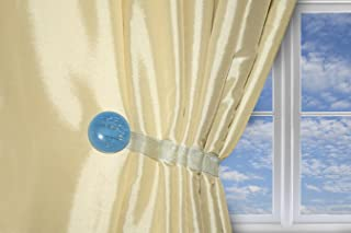 One Pair Curtain Clips, Magnetic Buckle Tieback, Creative Curtain Holdback Accessories, No Tools Required, Gem (Aqua)