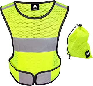 HiVisible Reflective Vest - Reflective Running Gear for Men and Women for Night Running, Biking, Walking. Reflective Running Vest, Safety Straps, Reflector Strips