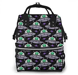 Alien Ufo Multi-Function Travel Backpack Nappy Bag,Fashion Mummy Bag