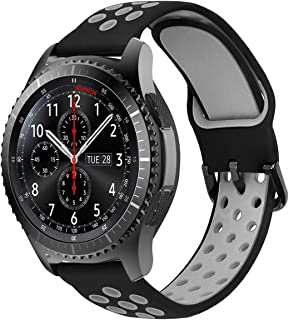 22mm Quick Release Watch Strap Compatible for Samsung Gear S3 Frontier/Classic/Galaxy Watch 46mm/ Huawei Watch 2 Classic/H...