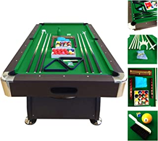 SIMBAUSA Billiard Pool Table 7' Feet Snooker Full Set Accessories Game mod. Green Season