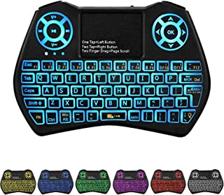 Backlit Mini Keyboard Touchpad Mouse,I9 Mini Wireless Keyboard with Touchpad and Multimedia Keys for Android TV Box Smart ...