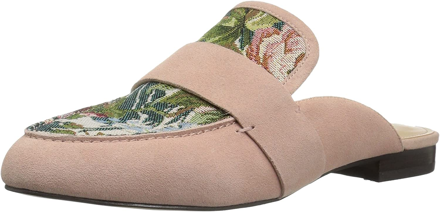The Fix Women's French Floral Tapestry Slide Slip-On Loafer
