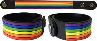 Ibestbuysell Gay Lesbian LGBT pride rainbow rubber bracelet wristband