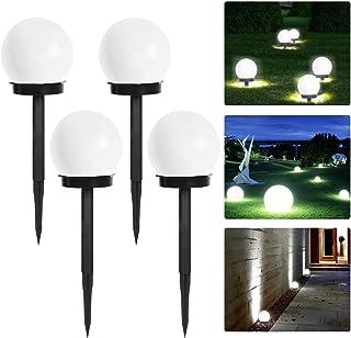 ソーラー LEDボールライト 埋め込み式センサーライト ソーラーライトパネル隠す 電気代ゼロ 直射日光の場所どこでもいい ガーデン経路/芝生/車道/歩道/庭/屋外などに対応 4本セット