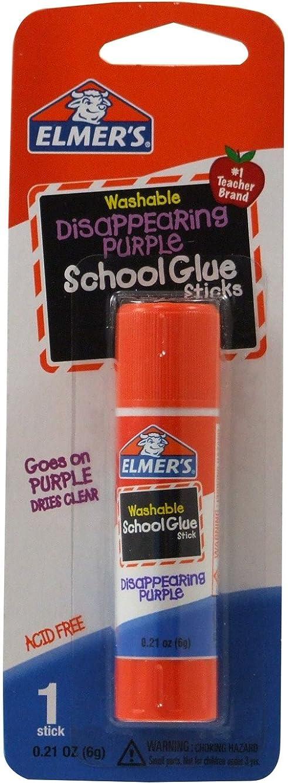 Elmer's Disappearing Purple School Glue Stick, 0.21 oz, Single Stick (E513)