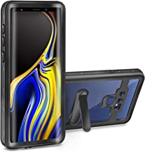 meritcase Samsung Galaxy Note 9 Waterproof Case Full-Body Heavy Duty Protection Cover with Built-in Screen Protector & Removable Kickstand for Galaxy Note 9 (2018 Release) (Black/Clear)