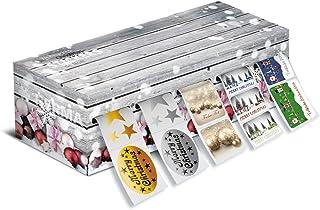 Herma 15130Stickers de Noël sur rouleau avec perforation, Distributeur Box 1000autocollants jumeaux, Set 1avec 5Design...