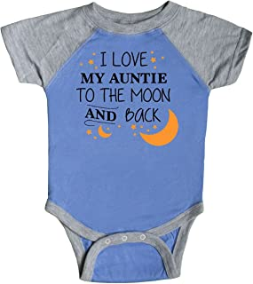 inktastic I Love My Auntie to The Moon and Back Infant Creeper