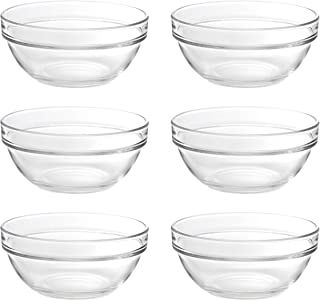 Ocean Stack Bowl, Pack of 6, Clear, 5 inch, P00624