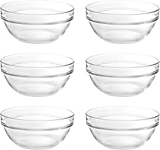 Ocean Stack Bowl, Pack of 6, Clear, 6 inch, P00625