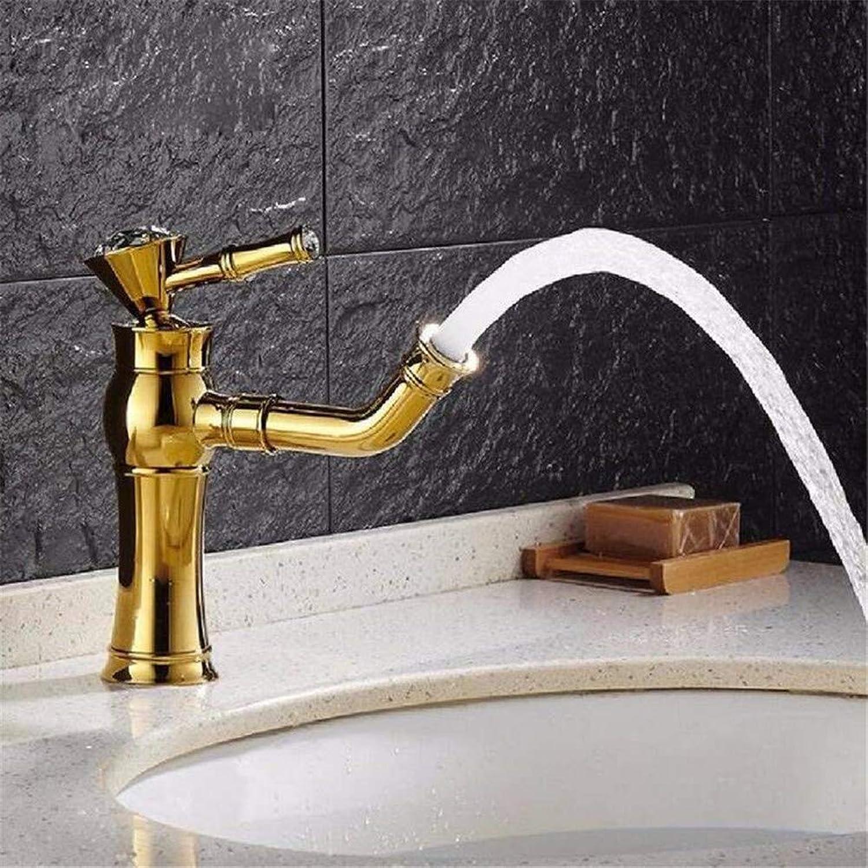 Basin Faucet Bathroom Sink Faucet Faucet Bathroom???Antique???gold Copper Hot and Cold Bath Faucet Bath