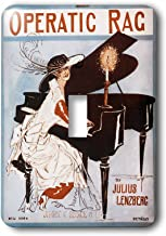 3dRose lsp_154831_1 Operatic Rag Woman In A Feathered Hat Playing A Grand Piano Single Toggle Switch