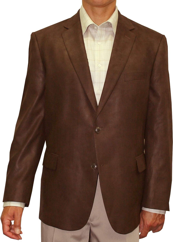 Jean-Paul Germain Mens' Microfiber Faux Leather Sport Coat