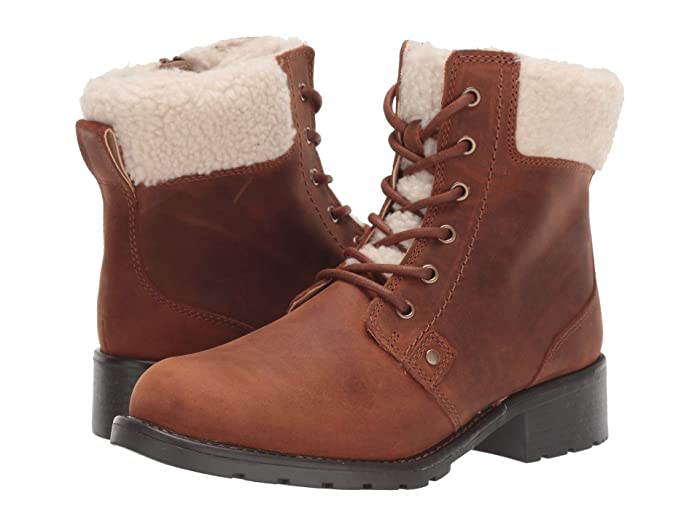 Clarks  Orinoco Dusk (Tan Warmlined Leather) Womens  Boots