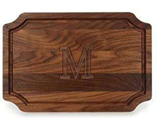 BigWood Boards W310-M Cutting Board, Personalized Cutting Board, Large Cheese Board, Walnut Wood Cutting Board and Serving Tray,