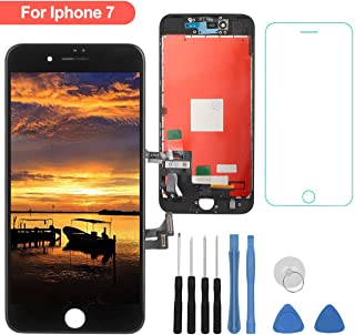 for iPhone 7 Screen Replacement - LCD Digitizer Touch Screen Assembly Set with 3D Touch Compatible with iPhone 7 Screen Only (Black)