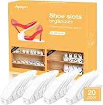 AQUAPRO Shoe Slots Organizer, Adjustable Shoe Stacker Space Saver, Double Deck Shoe Rack Holder for Closet Organization (2...