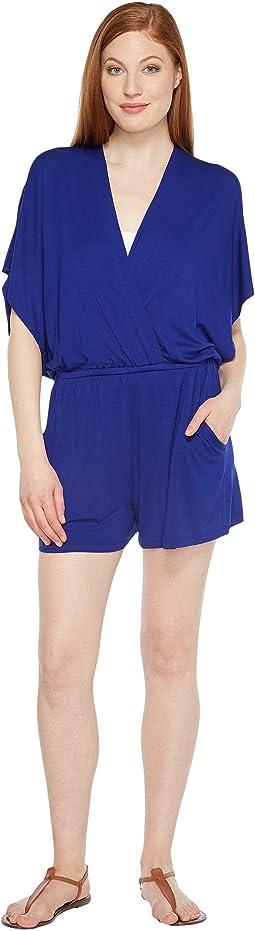 Trina Turk - Gypsy Jersey Kimono Sleeve Romper Cover-Up