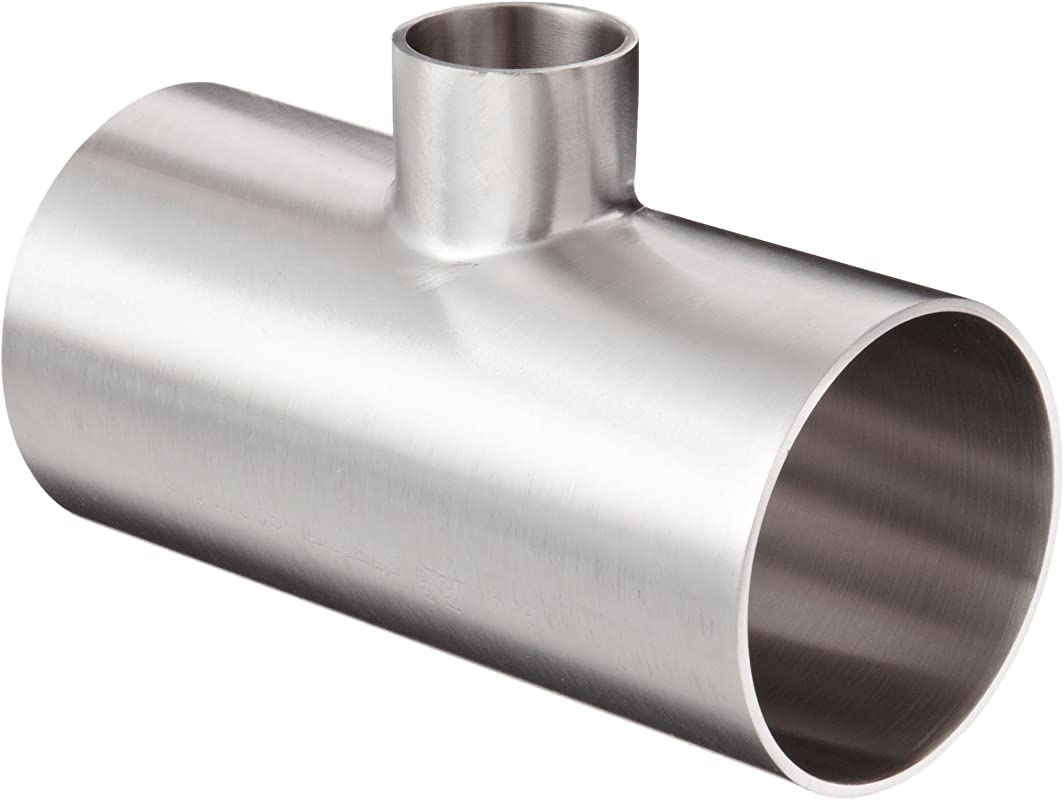 Dixon B7RWWW G200100P Stainless Steel 304 Polished Fitting Weld Reducing Tee 2 Tube OD X 1 Tube OD X 2 Tube OD