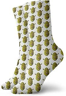 Hangdachang, Calcetines de tobillo para Navidad, Acción de Gracias Little Shrek Meme Athletic de 30 cm, calcetines de tobillo de deporte casual calcetines de algodón