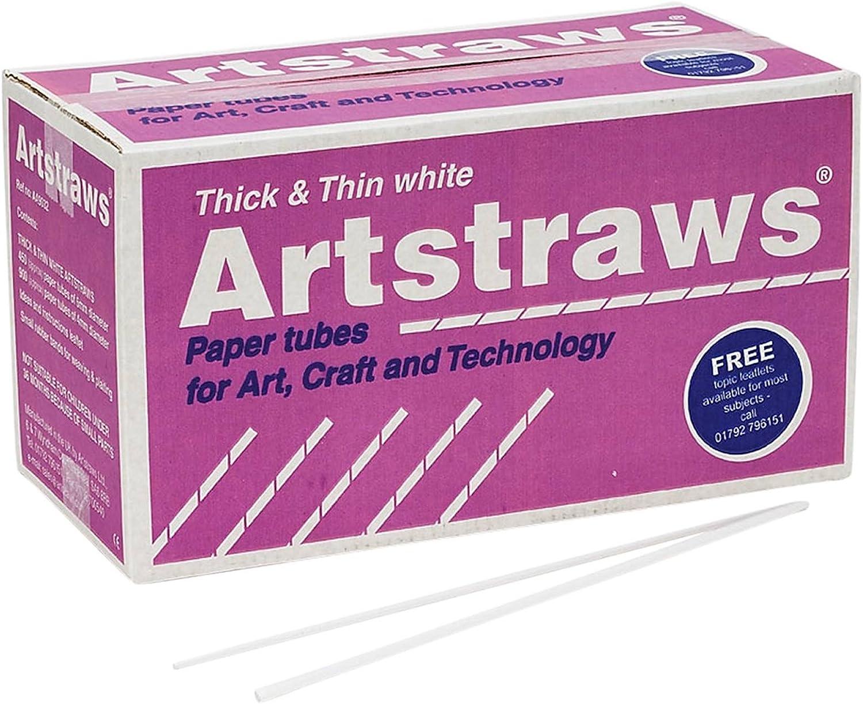 Artstraws School Pack, Thin & Thick, White (900&450)