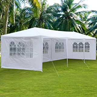 Clevr 10'x30' Wedding Party Canopy Tent, Removable Sidewalls with Windows, Great for Outdoors Events Gazebo Pavilion Cater