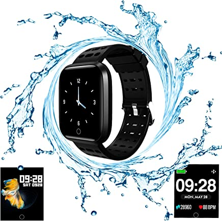 Smart Watch, Fitness Tracker with Heart Rate & Blood Pressure & Sleep monitor for Android & iOS, Waterproof Activity Tracker Watch with Calorie Counter & Pedometer, Health Sport Watch for Women Men