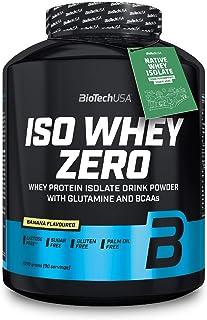 BioTechUSA Iso Whey ZERO, Lactose, Gluten, Sugar FREE, Premium Whey Protein Isolate, 2.27 kg, Banana