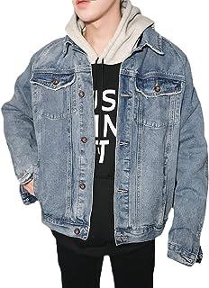 FOMANSH デニムジャケット メンズ ジージャン 秋冬 ジャケット gジャン ダメージ 長袖 ウォッシュ加工 大きいサイズ XS-2XL 綿 アウター 春
