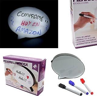 Pizarra Luminosa Panel LED Bocadillo Mensajes Personalizados Escribir Y Dibujar 3 Colores