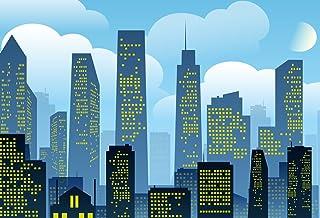 Superhelden Stadt Hintergrund für Babyfotos, Kindergeburtstage, Fotografie, Bilder, Wanddekoration, Vinyl Hintergrund, Fotokabine, FD1524