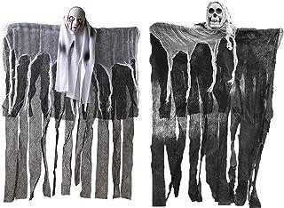 HAOSUN 2 Pack Hanging Ghost Halloween Decoration Scary Skeleton Hangman for Outdoor Indoor Yard Tree Decor 33.5 x 23.6 inch